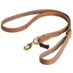 Professional Pitbull Leather Dog Lead 6', UK