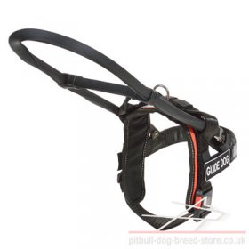 Pitbull Guide Dog Harness with Removable Handle and Sign Patches