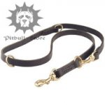 Leather Multi Functional Dog Lead, 3/4""