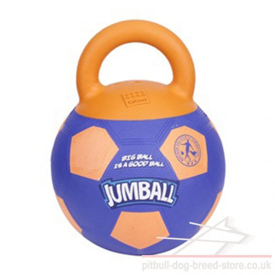 Rubber Dog Ball with Handle