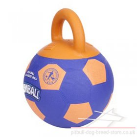 "Rubber Dog Ball with Handle ""Jumball"" for Staffy Training"