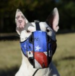 English Bull Terrier Muzzle, Leather, American Pride Ornament