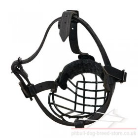 Pitbull Dog Muzzle of Wire with Rustless Polymer Cover