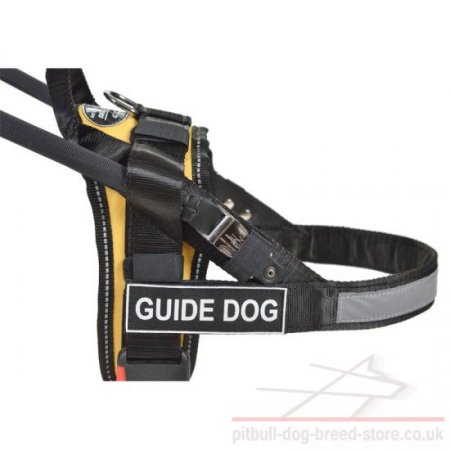 Easy Guide Dog Harness with Patches and Detachable Handle