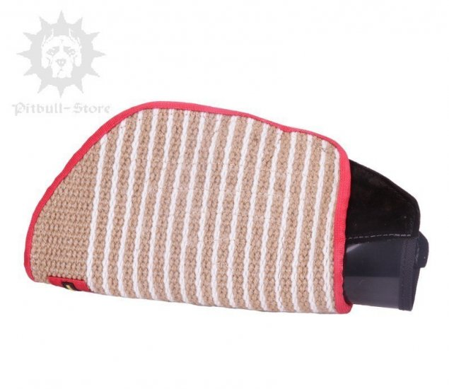 Dog Training Arm Sleeve of Jute for Young Pitbull