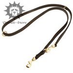 "Multifunctional Pitbull Lead of 3/4"" Rubberized Nylon"