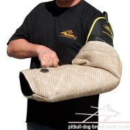 Protective Arm Sleeve of Jute for Staffy and Pitbull Biting