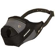 Dog Muzzle of Leather & Nylon for Pitbull