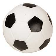 Squeaky Dog Ball of Rubber for Games with Staffy, Soccer Design