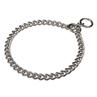 "1/6"" Chain Choke Collar for Staffy with Round Links UK"