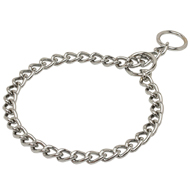 Classic Staffy Chain Collar of Chrome Plated Steel