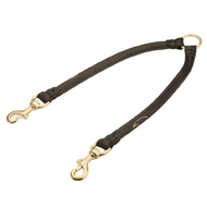 Coupler Dog Lead of Extra Thick Rolled Leather