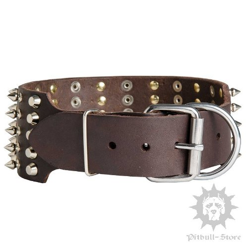 Large Wide Leather Dog Collars