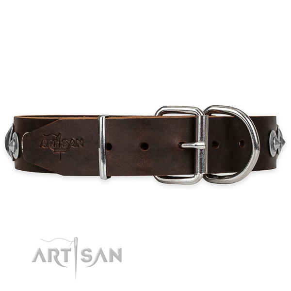 Leather Dog Collar Buckle
