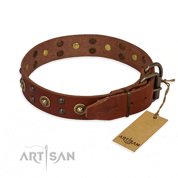Thick Leather Dog Collars for Pitbulls