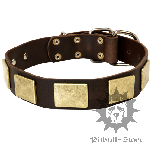 1.5 inch Leather Dog Collar