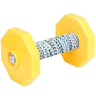 Dog Dumbbell UK with Yellow Plates and Covered Bar, 1.4 Lbs