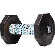 Dog Dumbbell UK with Covered Bar and Black Weight Plates 1.4 Lbs