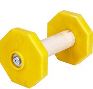 Dog Dumbbell Wooden and Plastic for Retrieve Training, 650 g
