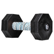 Dog Obedience Dumbbell with 4 Black Plastic Weight Plates, 1 Kg