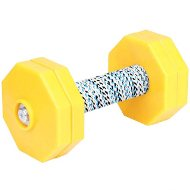 Dog Obedience Dumbbell with 4 Yellow Plastic Weight Plates, 1 Kg
