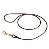 Round Leather Dog Show Lead - 1/4 Inch Wide