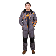 "FDT Pro ""Dress'n'Go"" Dog Trainer Suit of Grey/Orange Colour"