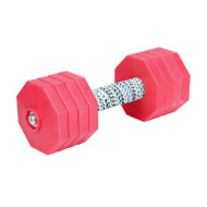 Dog Training Dumbbell with 8 Red Plastic Weight Plates, 2 kg