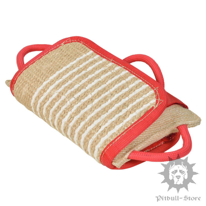bite pillow with jute cover for dog training dog training pad