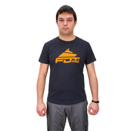 """Pro Fit"" Dog Training T-shirt in Dark Grey, Orange FDT Pro Logo"