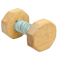 Dog Training Dumbbell for Staffy, Wood and French Linen, 650 G