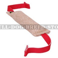 Jute Dog Bite Tug with Two T-Handles for Drive Building