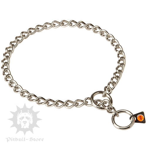 Choke Chain Collar for Staffy, Choker of Stainless Steel