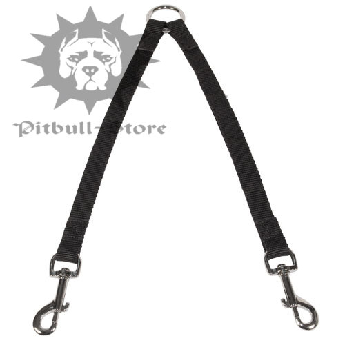 Double Dog Lead of Nylon for Walking 2 Pitbulls