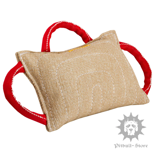 Jute Dog Bite Pad with Three Handles