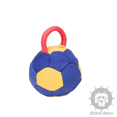 Football-shaped Dog Bite Toy with Strong Handle