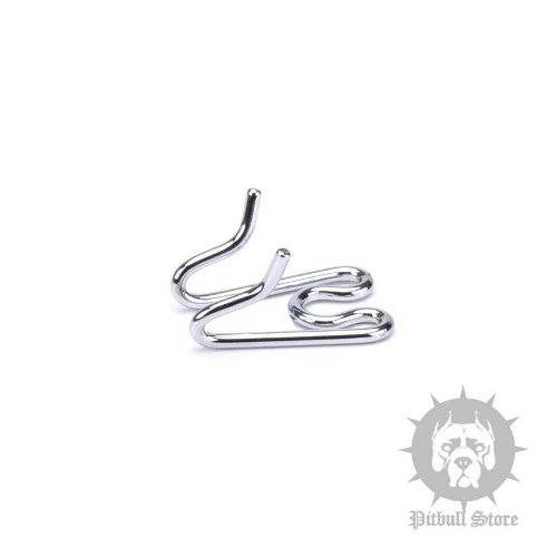 Extra Link of Chrome-Plated Steel for Pinch Collar 3 mm