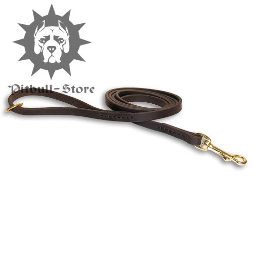 "1/2"" Leather Dog Leash of Classic Design"