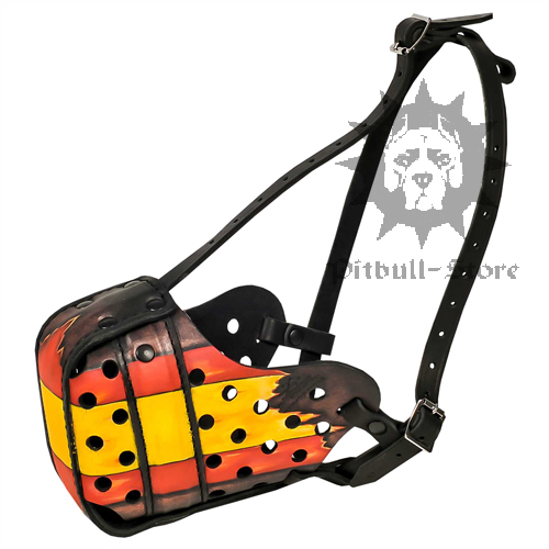 Hand-made Leather Dog Muzzle in Spain Design