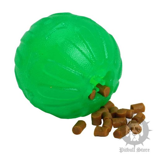 Think Out a Puzzle Treat Dispensing Ball for Staffy