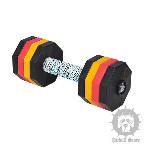 Wooden Dumbbells for Advanced Dog Sport Training, 4.4 lbs
