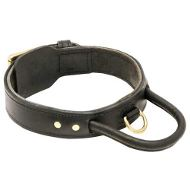 Leather Agitation Dog Collar with Handle for
