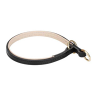 Leather Choke Collar Soft, Nappa Padded for Pitbull Obedience