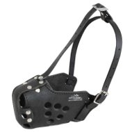 Staffy Dog Muzzle for Working and Training, Natural Leather