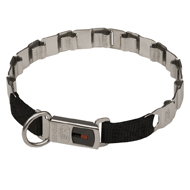 NECK TECH Dog Collar for Pitbull, Stainless Steel, 24""
