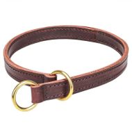 Pitbull Collar of Two-Ply Leather for Obedience Training