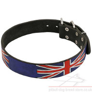 NEW! Union Jack Painted Dog Collar UK Style!