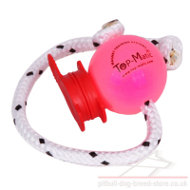 Soft Plastic Dog Ball Top-Matic with MAXI Power-Clip for Staffy