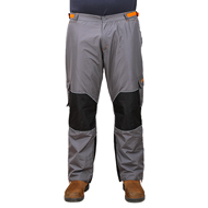 """Pro Pants"" FDT Pro Waterproof Trousers of Grey & Orange Colours"