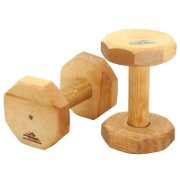 Training Dog Dumbbell of Safe Natural Dry Hardwood
